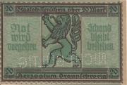 20 Mark (Staatskassenschein) – reverse