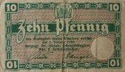 10 Pfennig (Staatskassenschein) – obverse