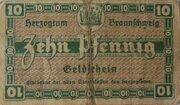 10 Pfennig (Staatskassenschein) – reverse