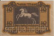 10 Mark (Staatskassenschein) – reverse
