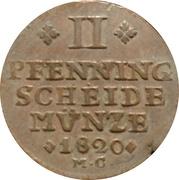2 Pfenning - Karl II. – reverse
