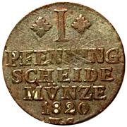 1 Pfenning - George IV Regent of Karl II – reverse