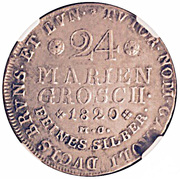 24 Mariengroschen - George IV Regent of Karl II – reverse