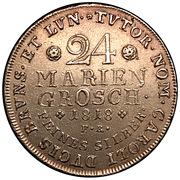 24 Mariengroschen - George IV As Prince regent of Karl II – reverse