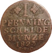 1 Pfenning - George IV. – reverse