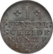 1 Pfenning - Karl II – reverse