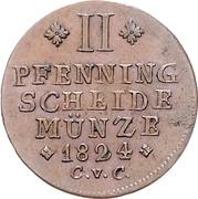 2 Pfennige - Karl II – reverse