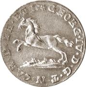 6 Pfennige - George IV Regent of Karl II – obverse