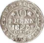 6 Pfennige - George IV Regent of Karl II – reverse