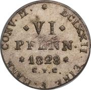 6 Pfennige - Karl II – reverse