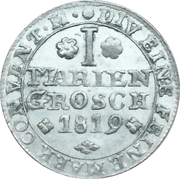 1 Mariengroschen - George IV Regent of Karl II – reverse