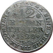 1/12 Thaler - George IV Regent of Karl II – reverse
