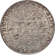 1/12 Thaler - George IV Regent – reverse