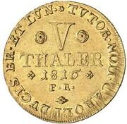 5 Thaler - Georg IV – reverse