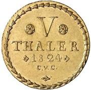 5 Thaler - Karl II – reverse