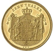 10 Thaler - Karl II – reverse