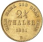2½ Thaler - Wilhelm – reverse