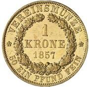 1 Krone - Wilhelm – reverse