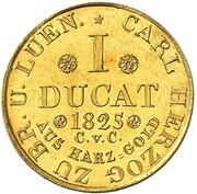 1 Ducat - Karl II (Harz-Mining Ducat) – reverse