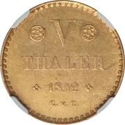 5 Thaler - Wilhelm – reverse