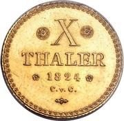 10 Thaler - Karl II. – reverse