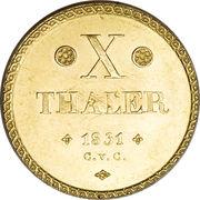 10 Thaler - Wilhelm – reverse
