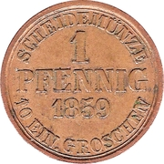 1 Pfennig - Wilhelm – reverse