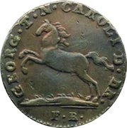 1 Pfenning - George IV. – obverse