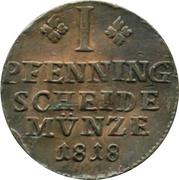 1 Pfenning - George IV Prince Regent of Karl II – reverse