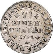 ⅙ Thaler - Karl Wilhelm Ferdinand – reverse