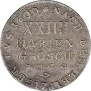 24 Mariengroschen / ⅔ Thaler - Karl Wilhelm Ferdinand – reverse