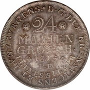 24 Mariengroschen - Friedrich Wilhelm – reverse