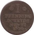 1 Pfennig - August Wilhelm – reverse