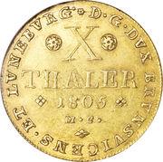 10 Thaler - Karl Wilhelm Ferdinand – reverse