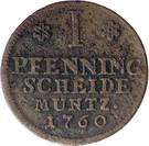1 Pfenning - Karl I – reverse