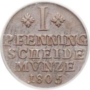 1 Pfenning - Karl Wilhelm Ferdinand – reverse