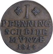 1 Pfenning - Friedrich Wilhelm – reverse
