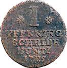 1 Pfenning - August Wilhelm – reverse