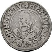 ¼ Thaler - Heinrich der Jüngere – obverse