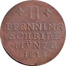 2 Pfenning - Fredrich Wilhelm – reverse