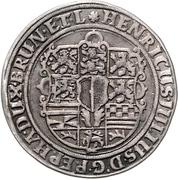 ¼ Thaler - Heinrich Julius (1/4 Ausbeutetaler) – obverse