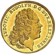 1 Ducat - Ludwig Rudolph (Death of Ludwig Rudolph) – obverse