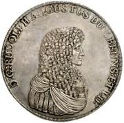 3 Thaler - Rudolf August (Löser) – obverse