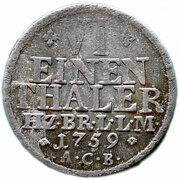 ⅙ Thaler - Karl I. – reverse