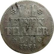 ⅙ Thaler - Karl I – reverse