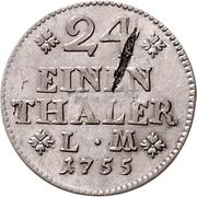 1/24 Thaler - Karl I – reverse