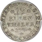1/12 Thaler - Karl Wilhelm Ferdinand -  reverse
