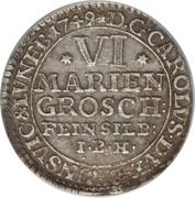 6 Mariengroschen - Karl I – obverse