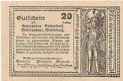 20 Heller (Bubendorf, Meilersdorf, Wolfsbach) – reverse