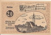 20 Heller (Bubendorf, Meilersdorf, Wolfsbach) – obverse